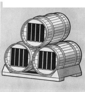 клетки из старых бочек