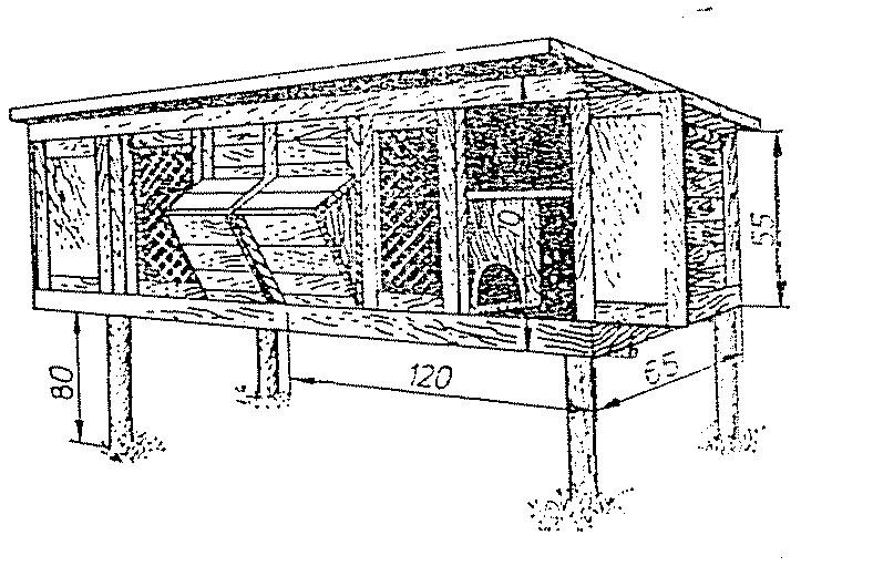 Домик для крольчихи чертежи
