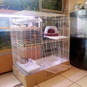 покупная клетка для кролика