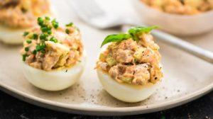 блюдо из яиц цесарки