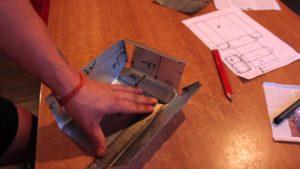 бункерная кормушка для кроликов чертеж